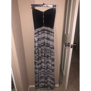 Strapless maxi dress!